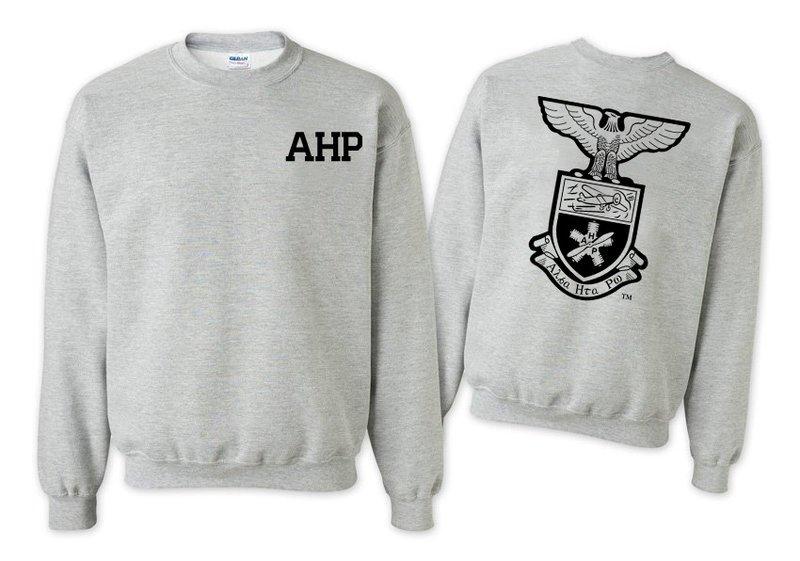 Alpha Eta Rho World Famous Crest - Shield Printed Crewneck Sweatshirt- $25!