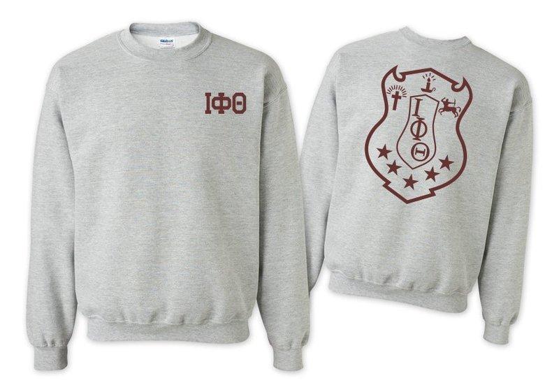 Iota Phi Theta World Famous Crest - Shield Printed Crewneck Sweatshirt- $25!