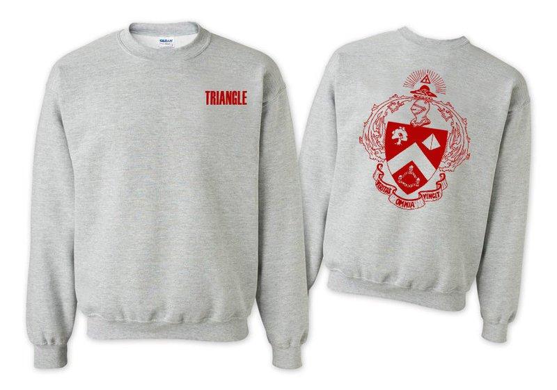 Triangle World Famous Crest - Shield Printed Crewneck Sweatshirt- $25!
