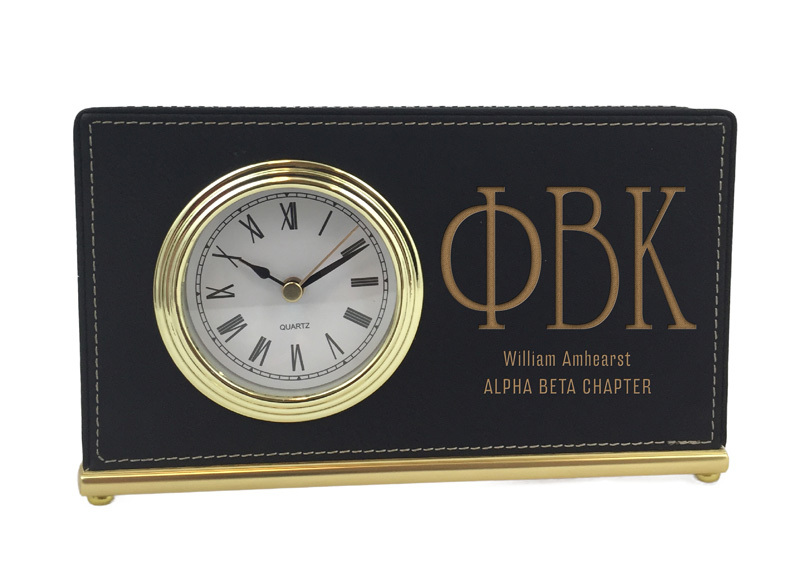Phi Beta Kappa Horizontal Desk Clock