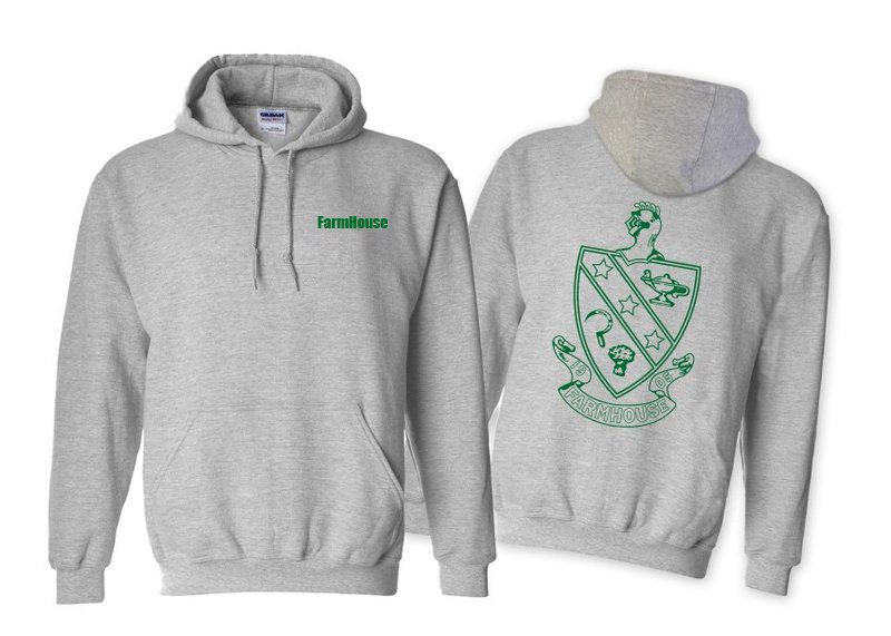 FarmHouse Fraternity World Famous Crest - Shield Hooded Sweatshirt- $35!