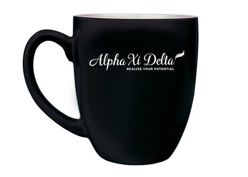Alpha Xi Delta Logo Bistro Mug