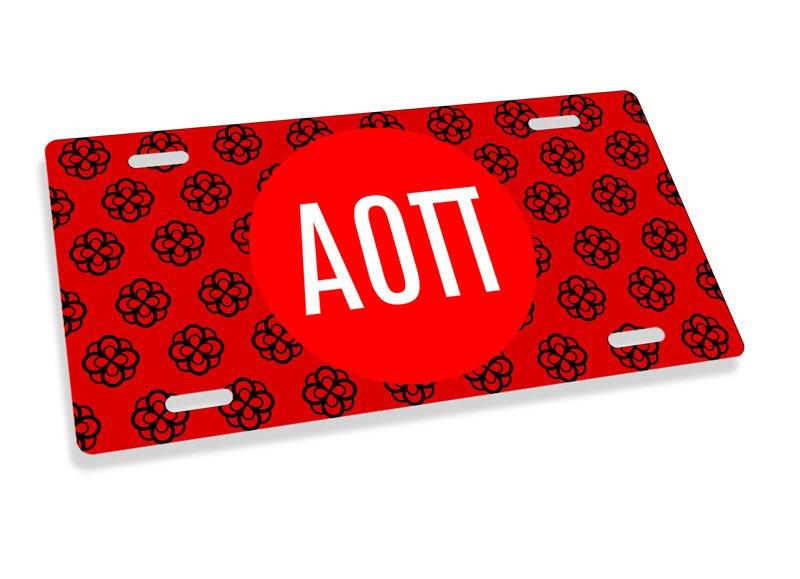 Alpha Omicron Pi Mascot License Plate