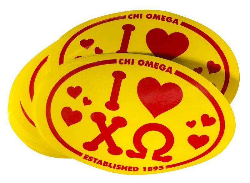 25 Chi Omega Oval Decals - ONE LOW PRICE SALE $14 99