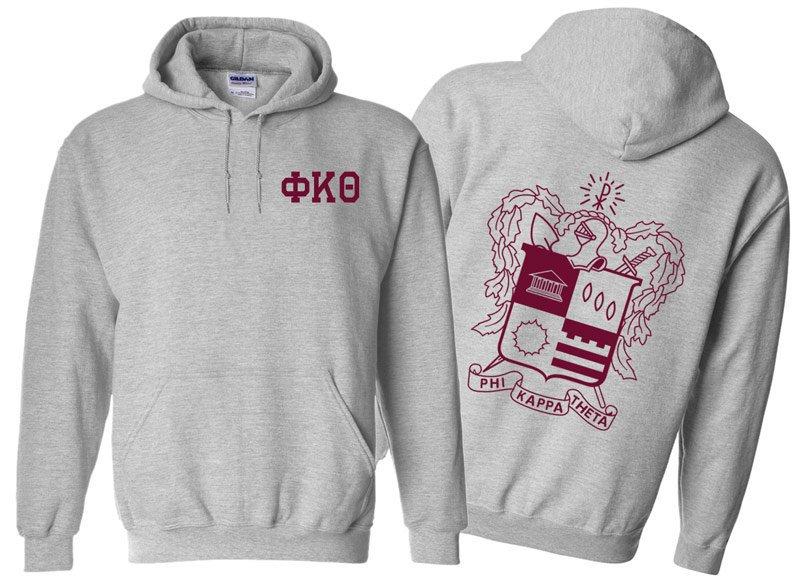 Phi Kappa Theta World Famous Crest - Shield Printed Hooded Sweatshirt- $35!