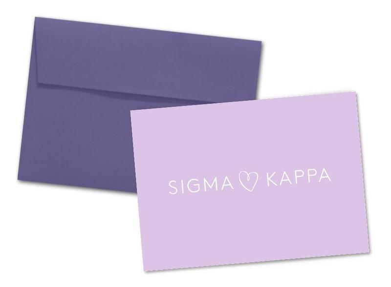 Sigma Kappa Logo Heart Notecards(6)