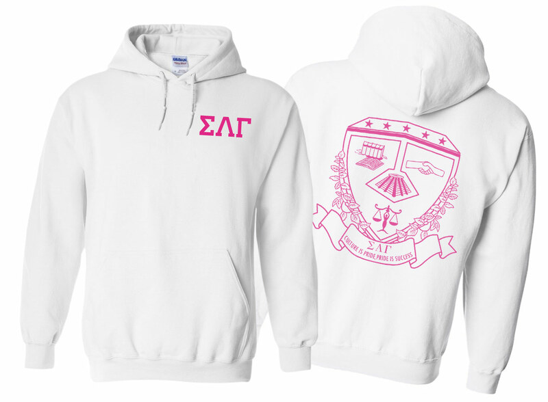 Sigma Lambda Gamma World Famous Crest - Shield Hooded Sweatshirt- $35!