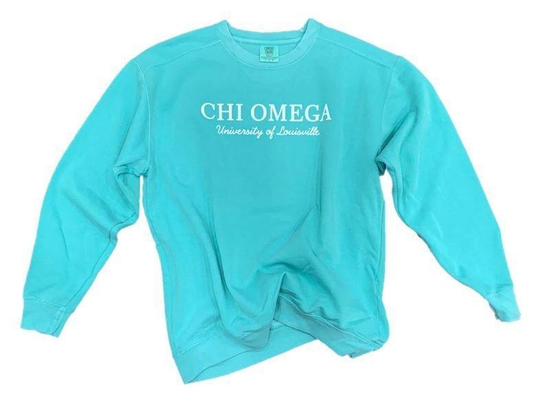 Sorority Script Comfort Colors Greek Crewneck Sweatshirt