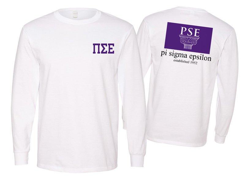 Pi Sigma Epsilon Flag Long Sleeve T-shirt - Comfort Colors