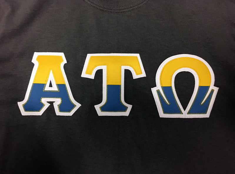 Two Tone Greek Lettered T-Shirt