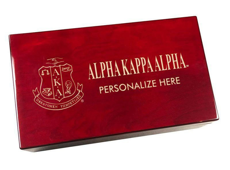Alpha Kappa Alpha Engraved Gavel Set