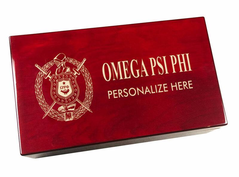 Omega Psi Phi Engraved Gavel Set