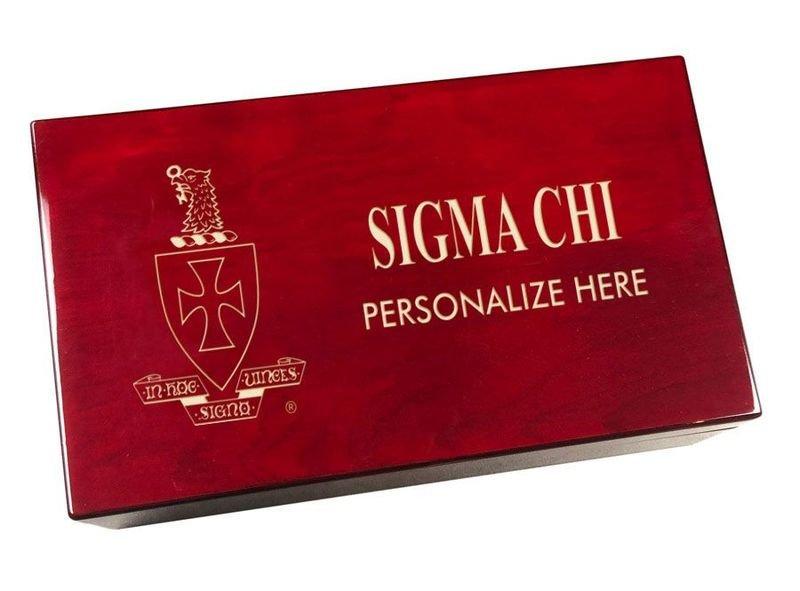 Sigma Chi Engraved Gavel Set