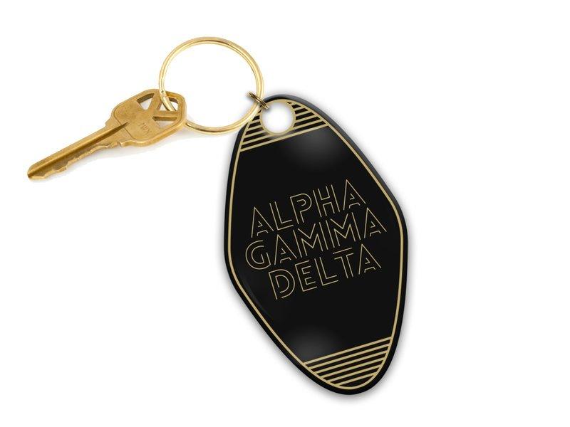 Alpha Gamma Delta Modera Motel Keychain