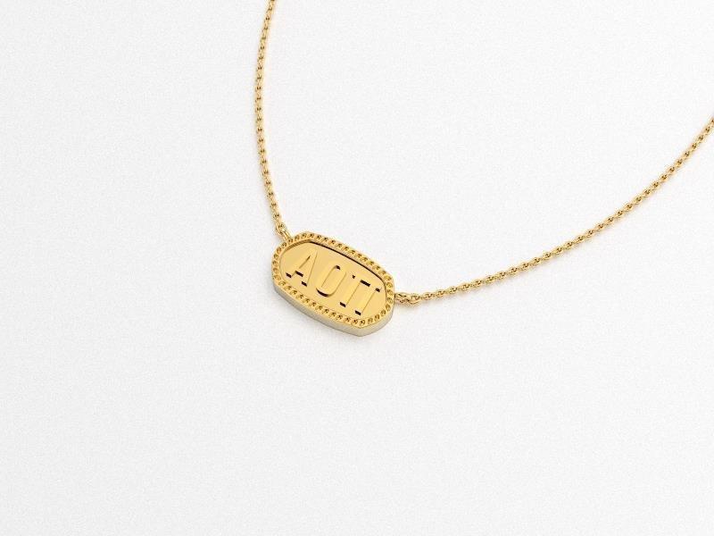 Alpha Omicron Pi Athena Necklace