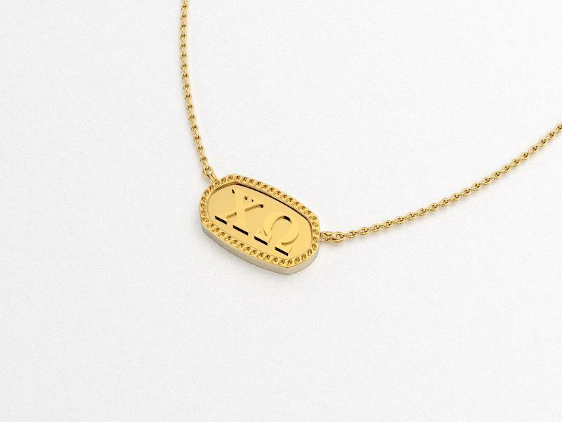 Chi Omega Athena Necklace