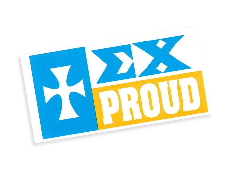 Sigma Chi Proud Bumper Sticker - CLOSEOUT