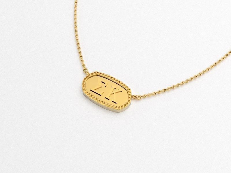 Sigma Kappa Athena Necklace