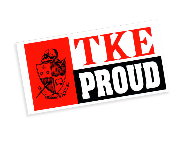 TKE Proud Bumper Sticker - CLOSEOUT