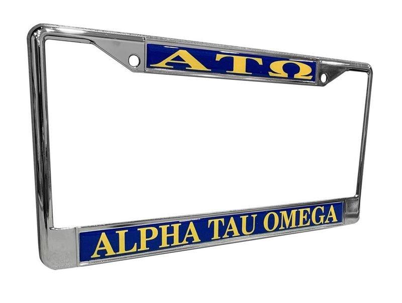 Alpha Tau Omega License Plate Frame