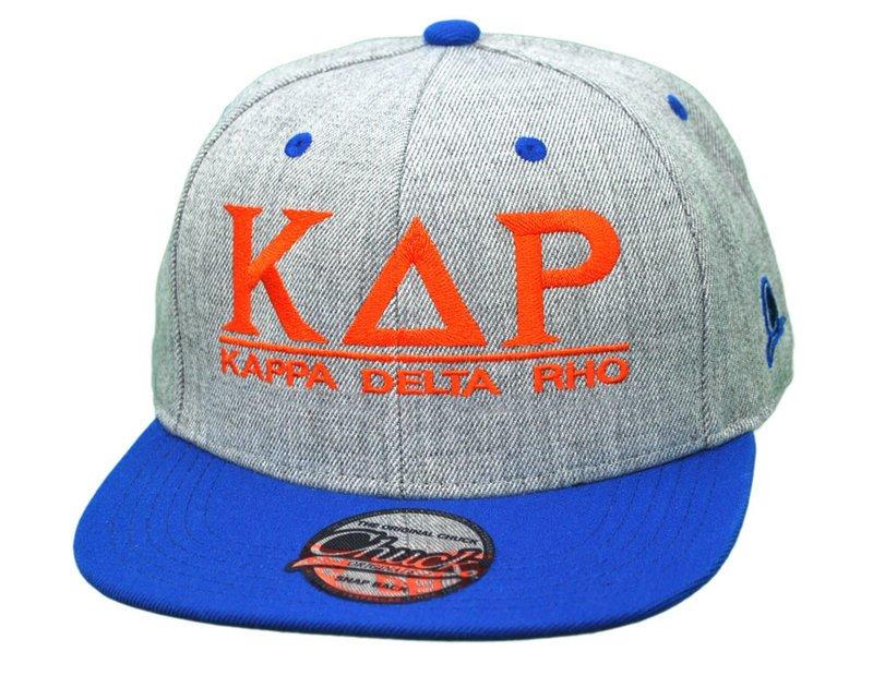 Kappa Delta Rho Flatbill Snapback Hats Original