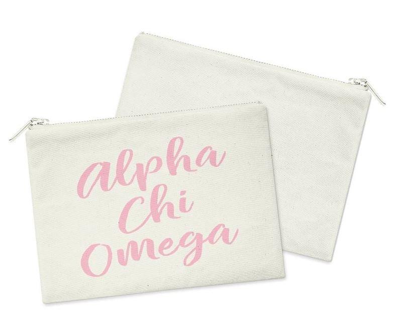 Alpha Chi Omega Script Cosmetic Bag