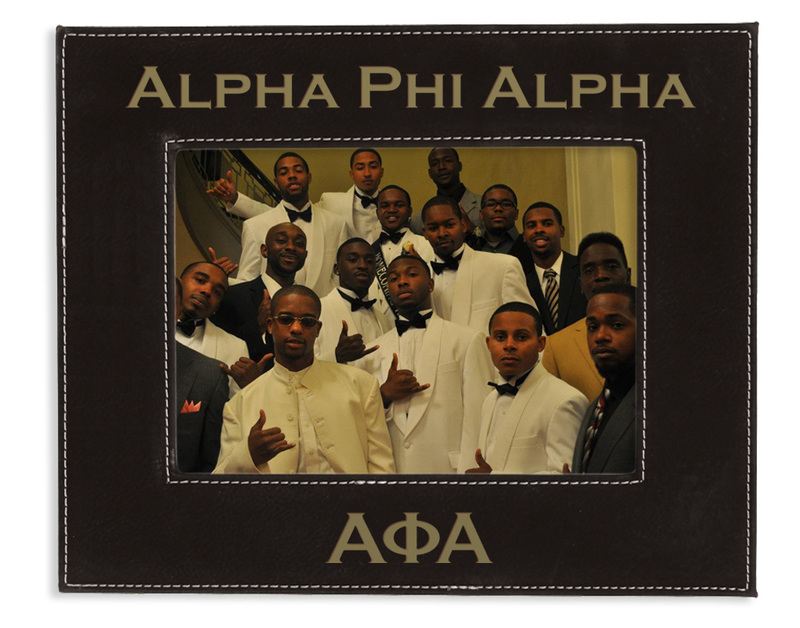 """Fraternity 4"""" x 6"""" Leatherette Picture Frame"""