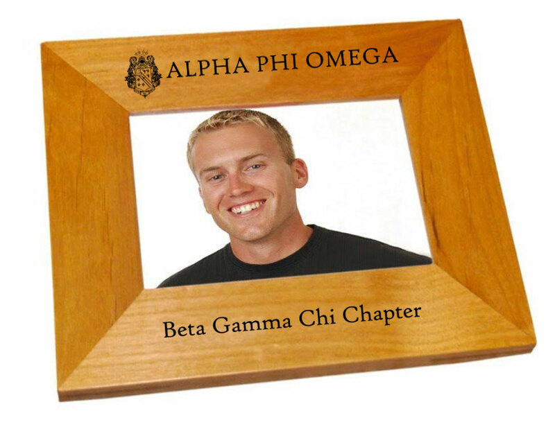 """Alpha Phi Omega 4"""" x 6"""" Crest Picture Frame"""