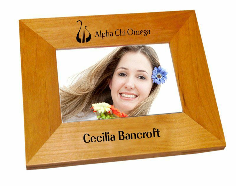 Alpha Chi Omega Mascot Wood Picture Frame