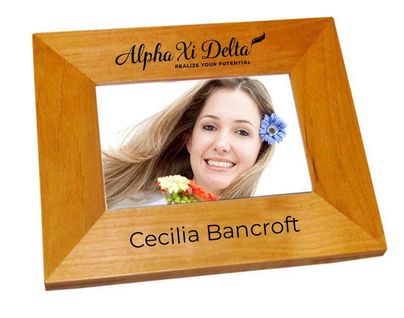 Alpha Xi Delta Mascot Wood Picture Frame