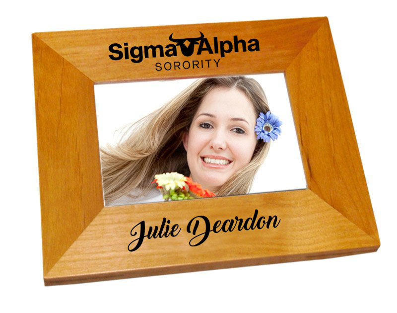 Sigma Alpha Mascot Wood Picture Frame
