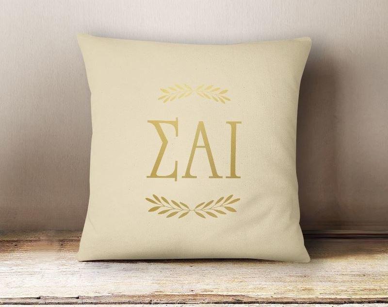 Sigma Alpha Iota Foil Letters Pillow