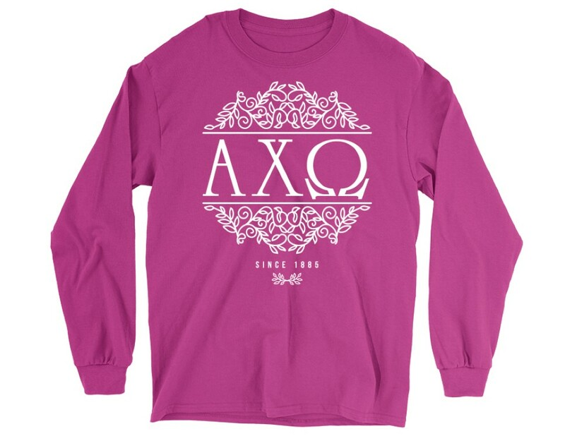 Alpha Chi Omega Scroll Long Sleeve