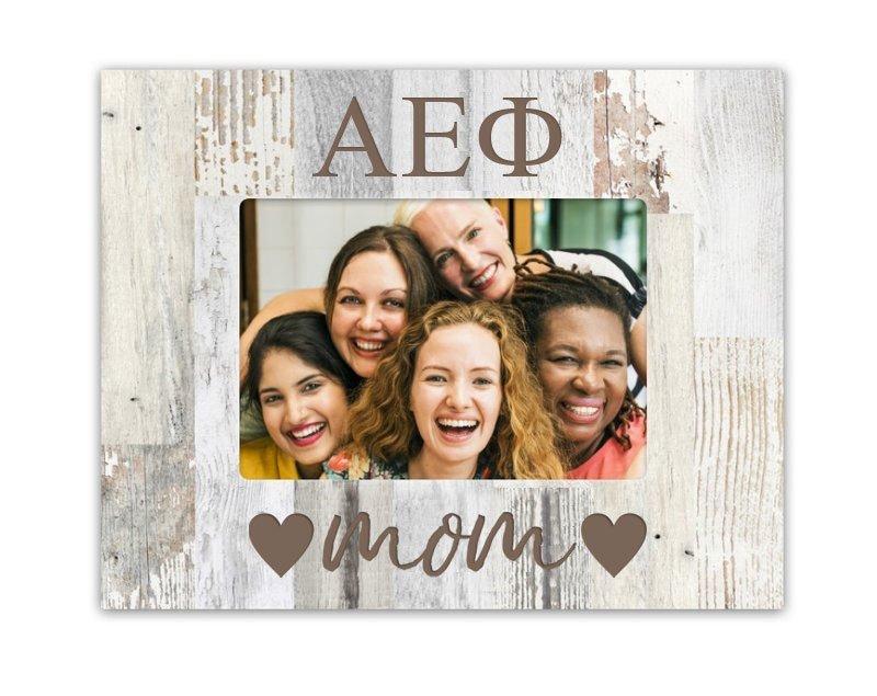 Alpha Epsilon Phi Hearts Faux Wood Picture Frame