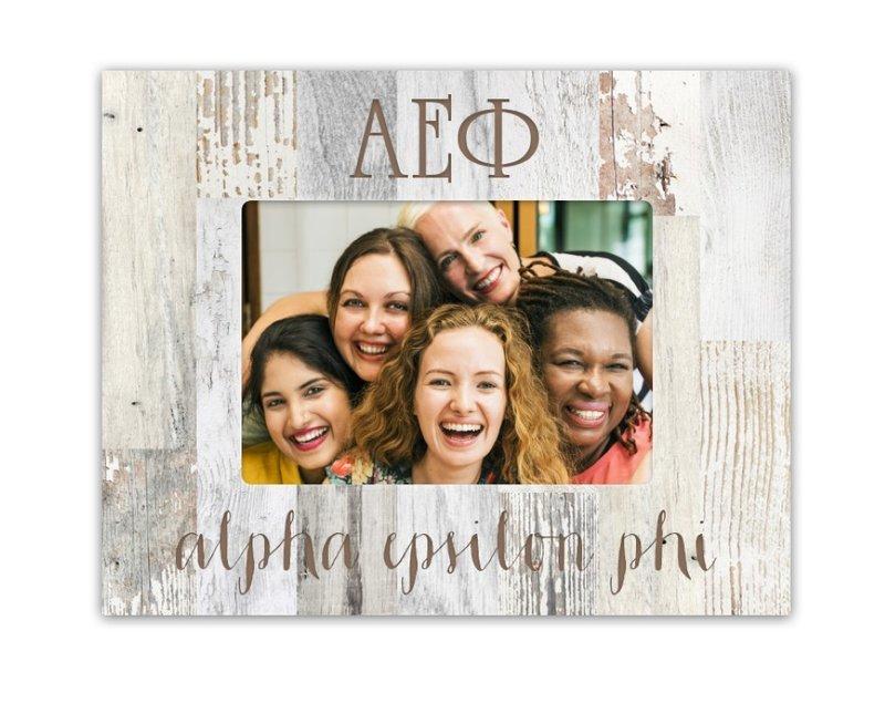 Alpha Epsilon Phi Letters Barnwood Picture Frame