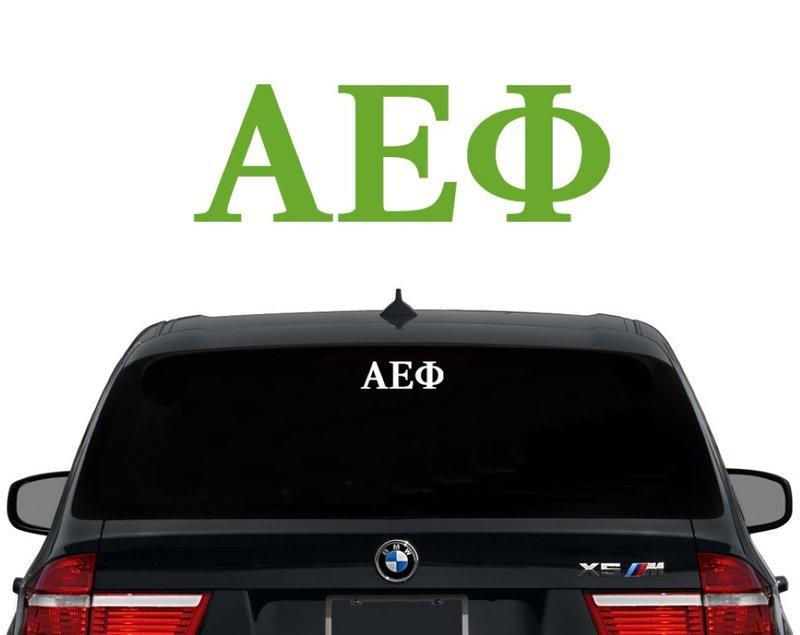 Alpha Epsilon Phi Letters Decal