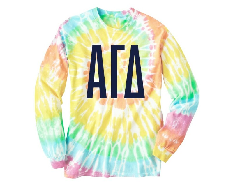 Alpha Gamma Delta Tie Dye Long Sleeve