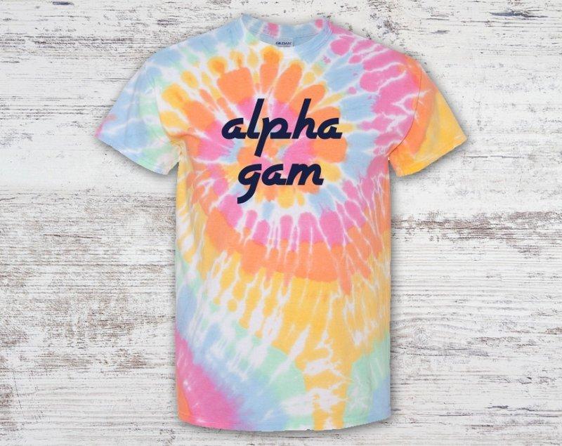 Alpha Gamma Delta Tie Dye Tee