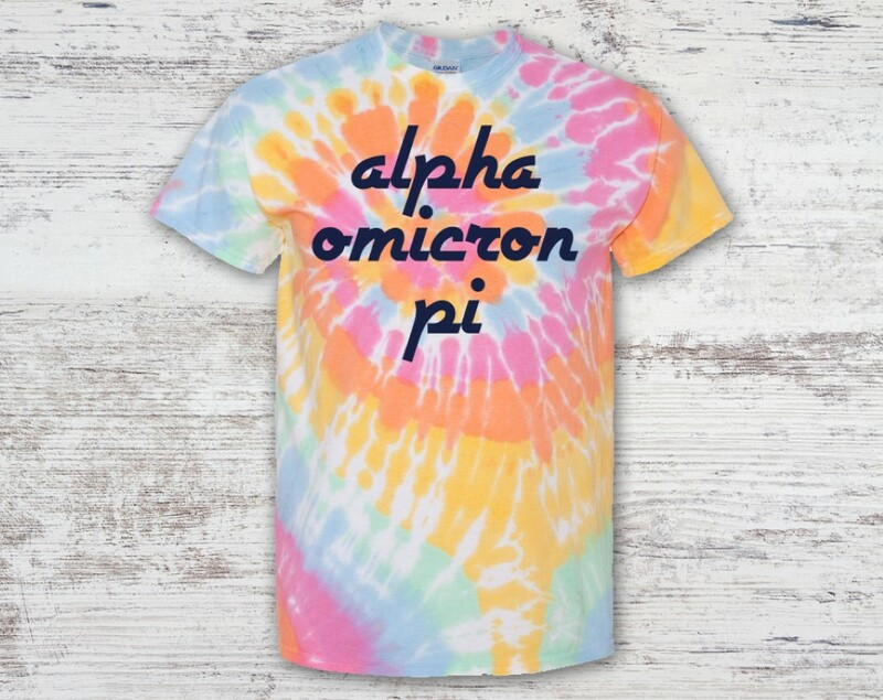 Alpha Omicron Pi Tie Dye Tee