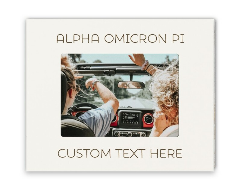 Alpha Omicron Pi Whitewash Picture Frame