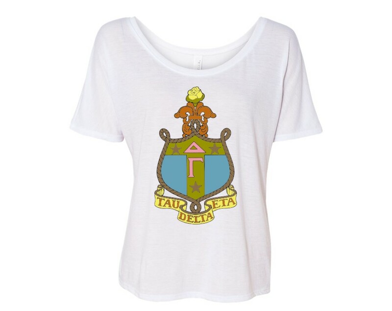 Delta Gamma Color Crest Flowy Tee