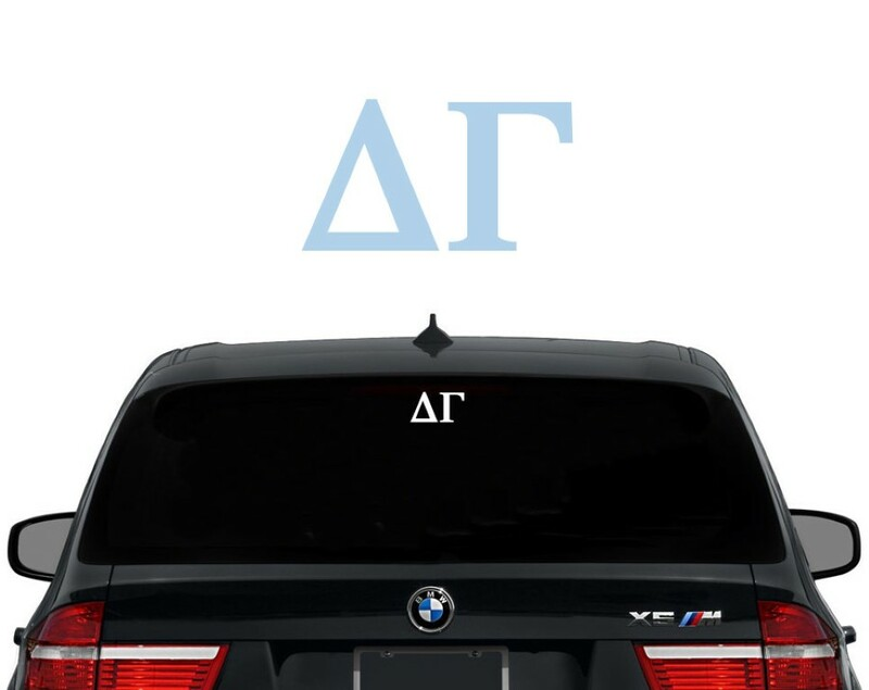 Delta Gamma Letters Decal