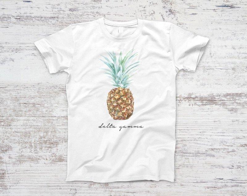 Delta Gamma Pineapple Script Tee