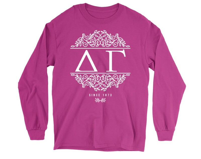 Delta Gamma Scroll Long Sleeve