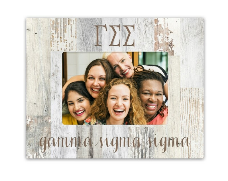 Gamma Sigma Sigma Letters Barnwood Picture Frame