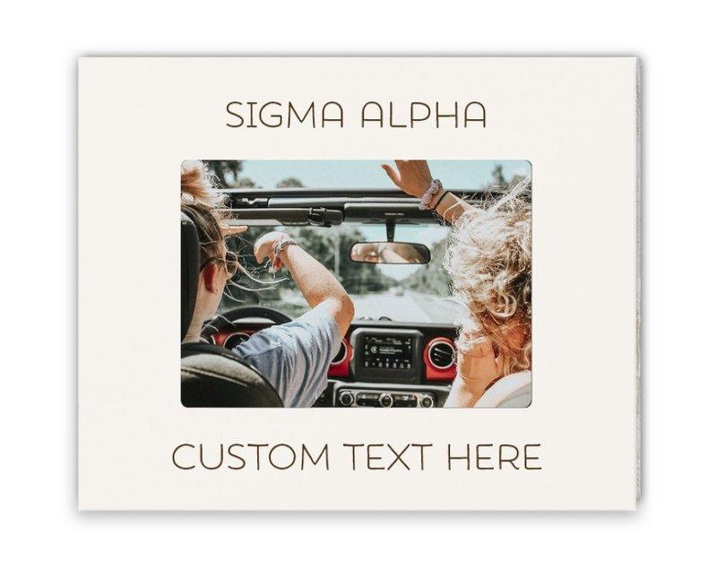 Sigma Alpha Whitewash Picture Frame