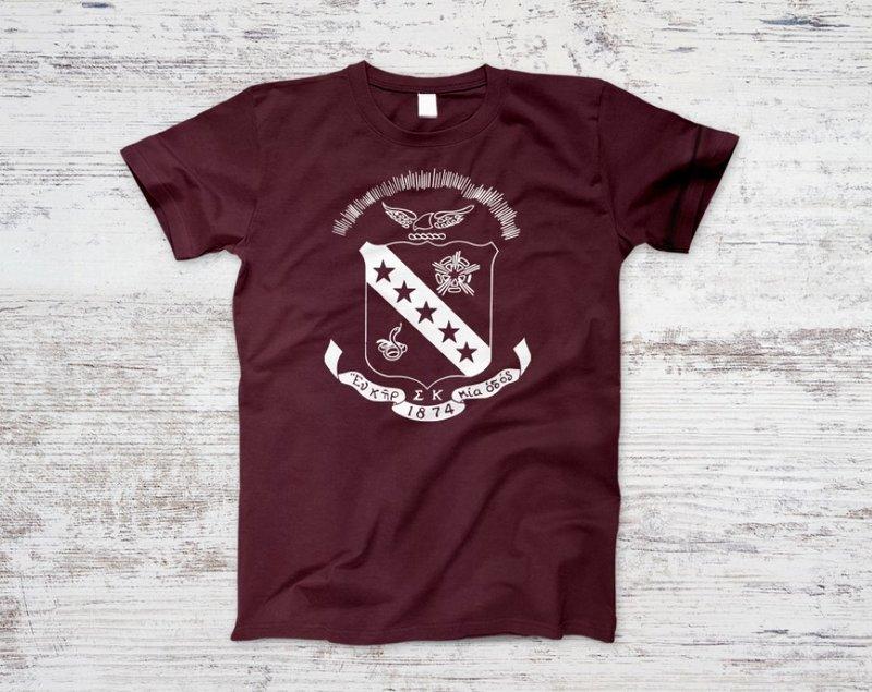 Sigma Kappa Crest Maroon Tee