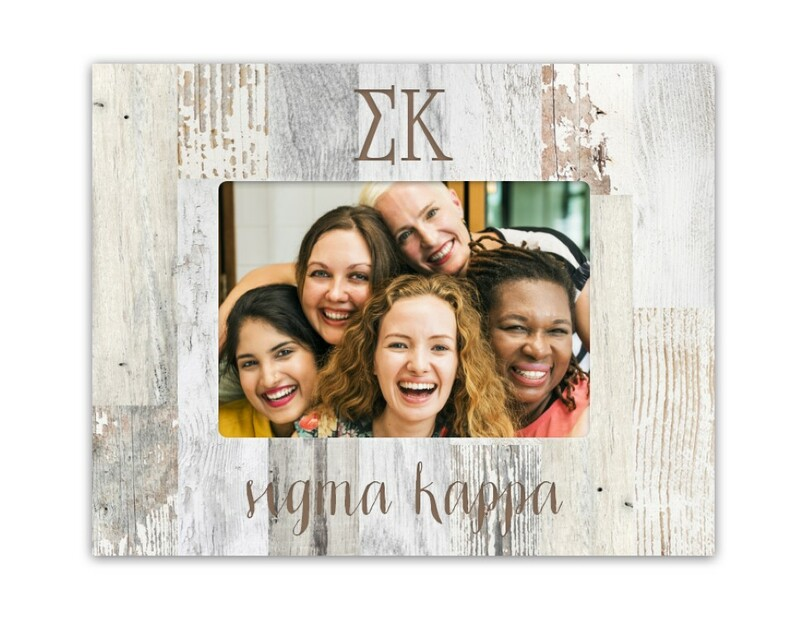 Sigma Kappa Letters Barnwood Picture Frame