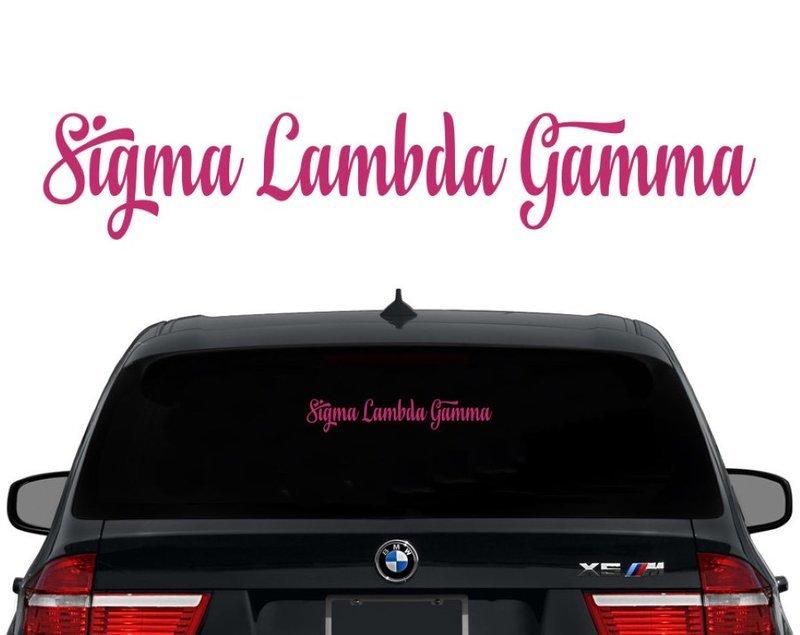 Sigma Lambda Gamma Script Decal