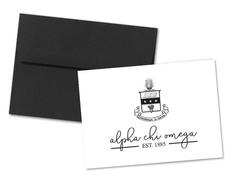 Alpha Chi Omega Established Notecards(6)